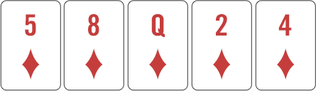 Royal flush example hand